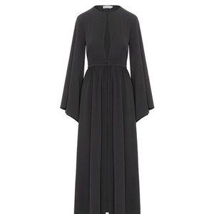 Inayah Black split front Kimono
